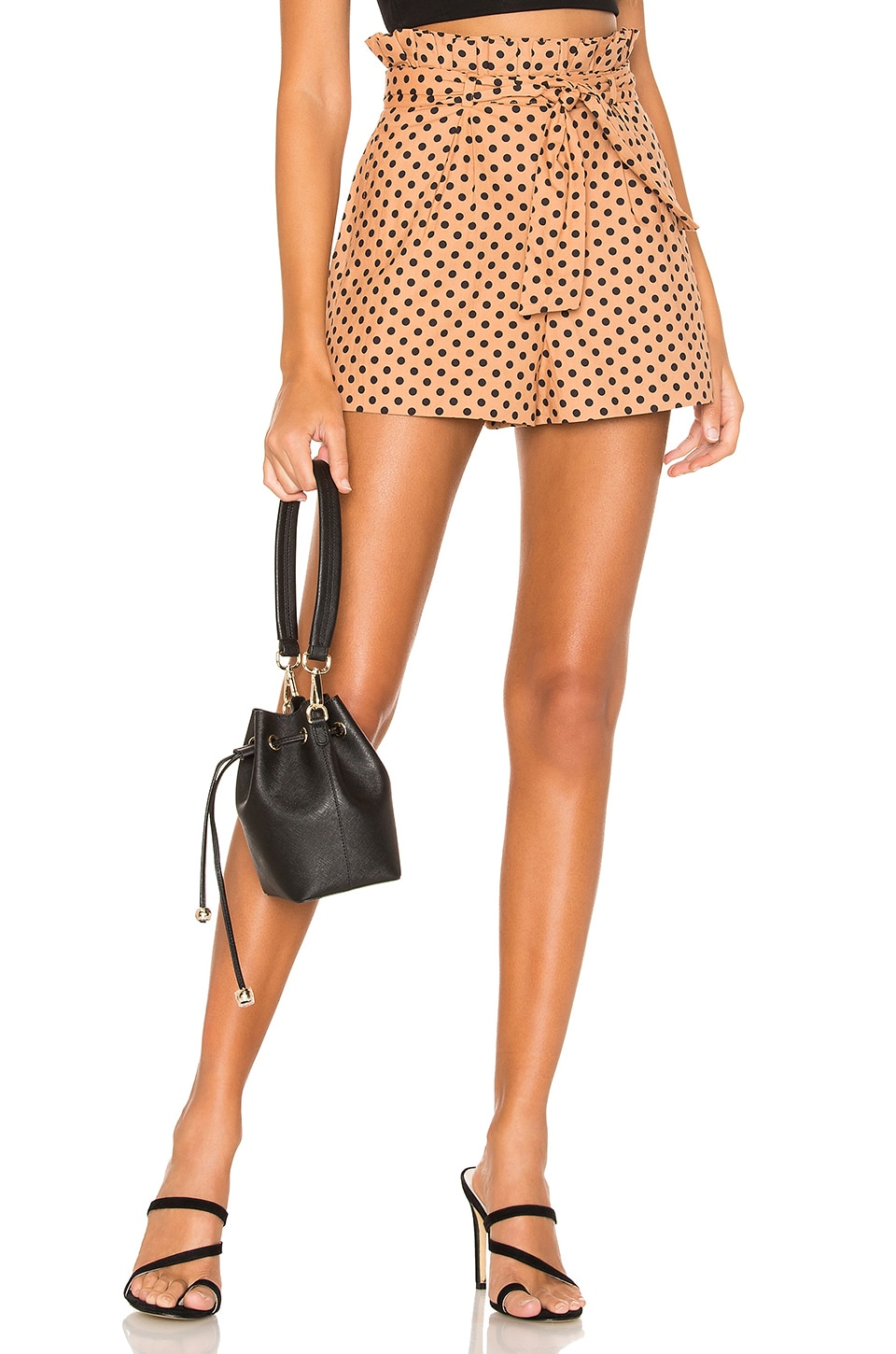 MAJORELLE Elfie Short in Tan & Black Dot