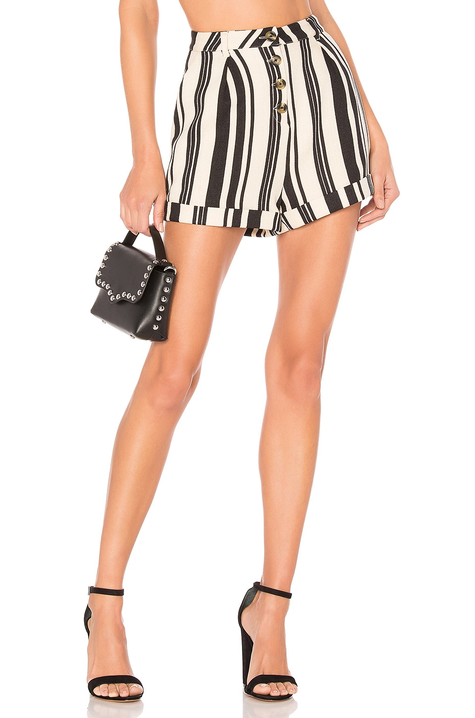 MAJORELLE Elanzo Short in Black Stripe