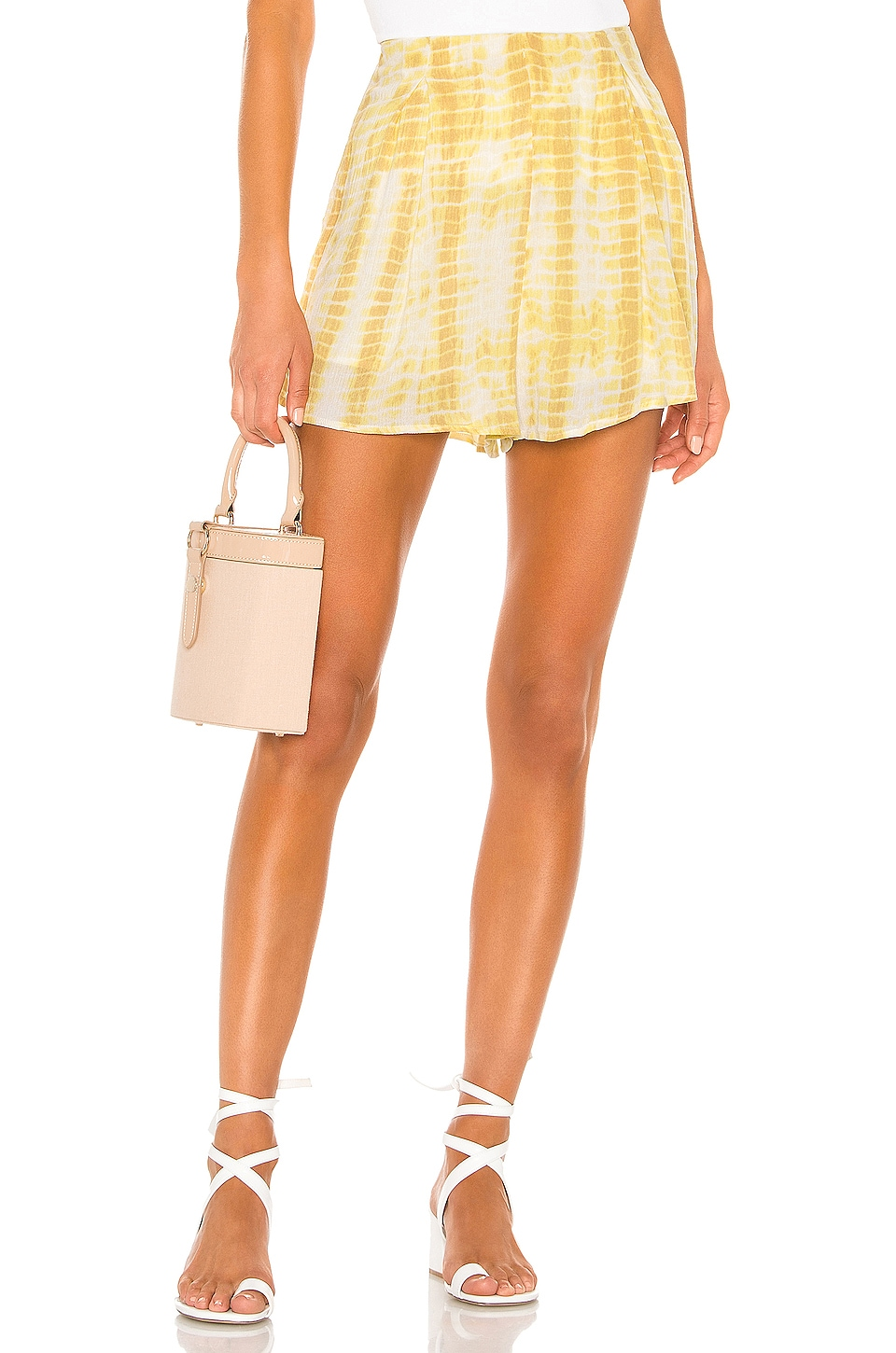 MAJORELLE Hunter Shorts in Yellow Tie Dye