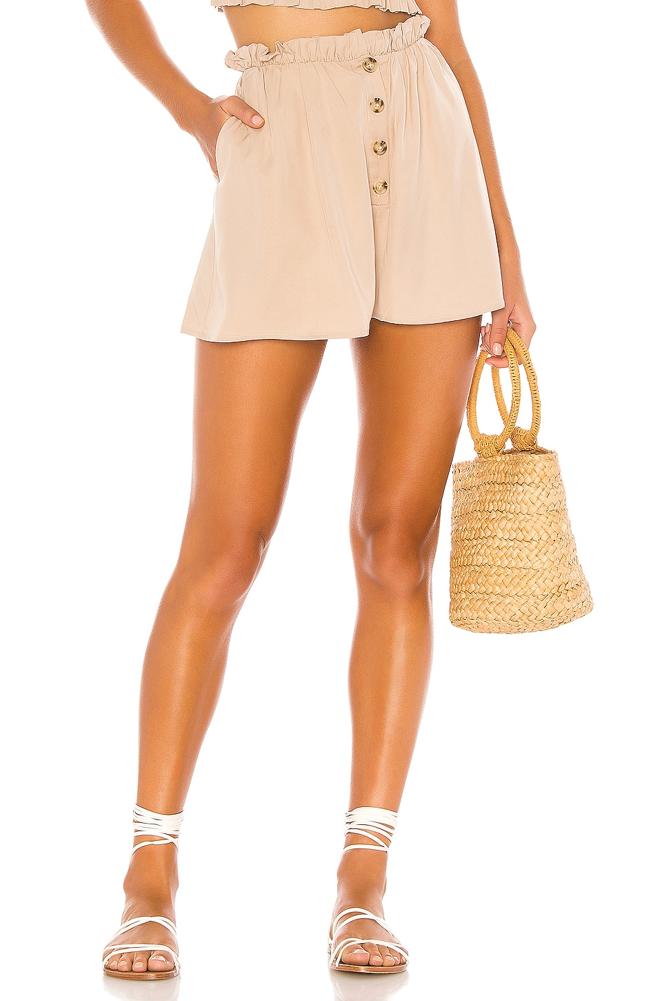 MAJORELLE Joey Short in Taupe