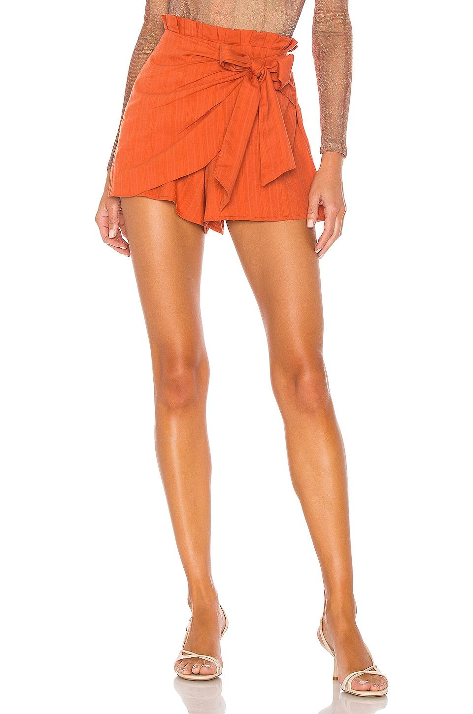 MAJORELLE Linette Skort in Rust Orange