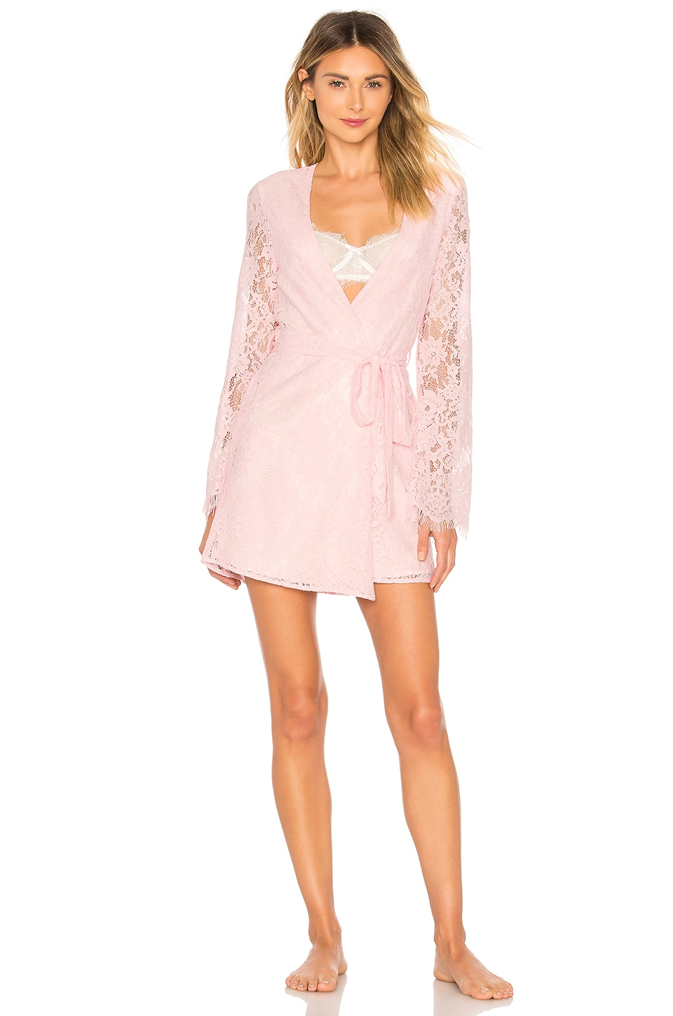 MAJORELLE Alexandra Robe in Baby Pink
