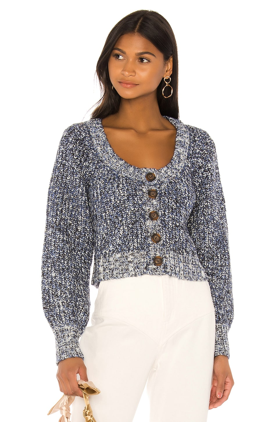 MAJORELLE Alice Cardigan in Marled Night