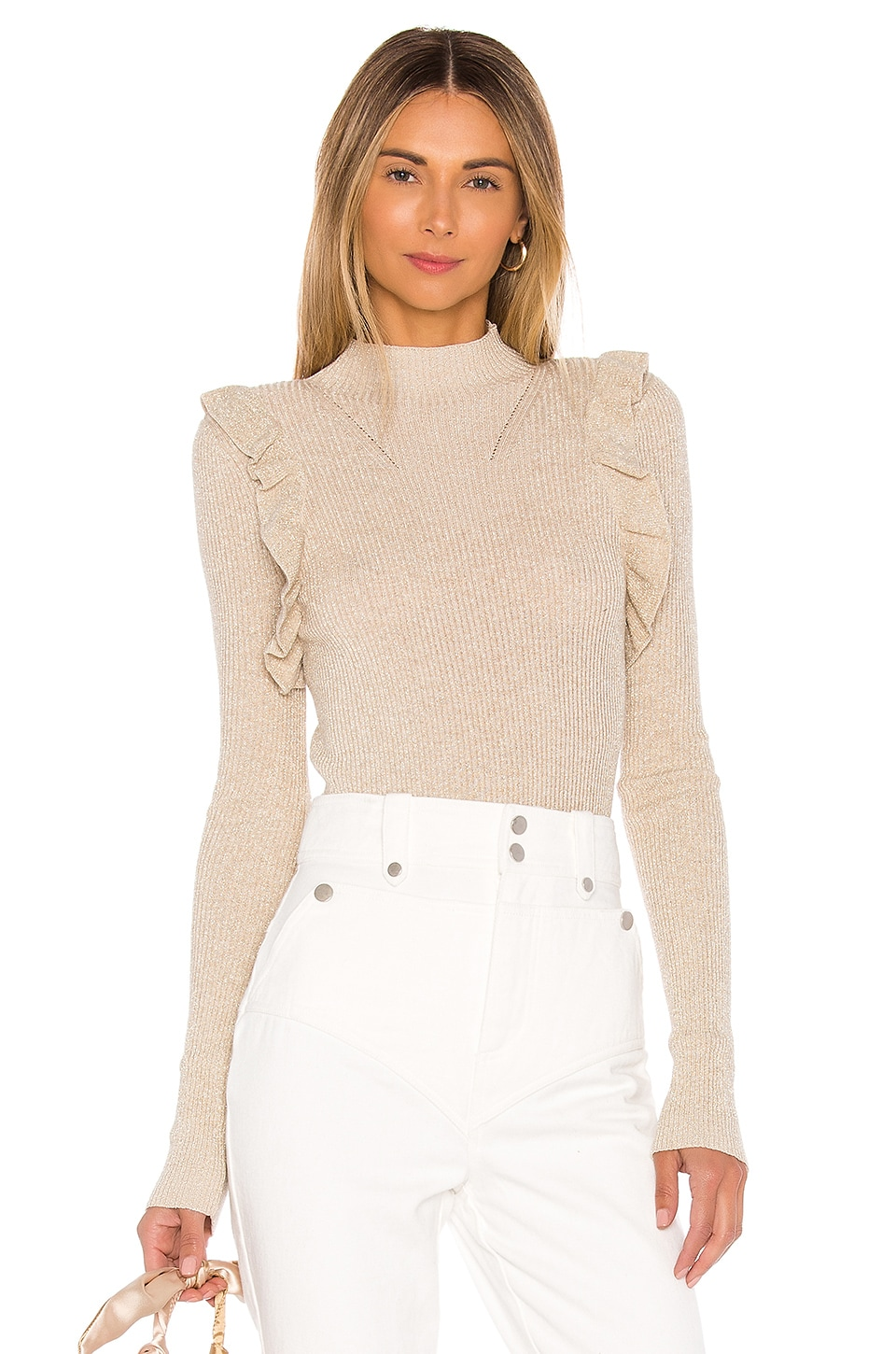 MAJORELLE Annie Sweater in Ivory