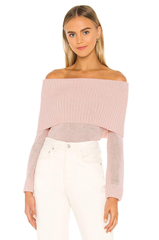 MAJORELLE Pamela Sweater in Light Pink