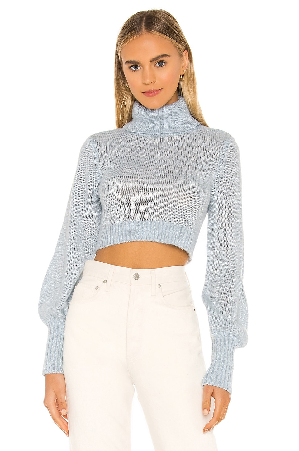 MAJORELLE Jackson Turtleneck in Blue Sequins