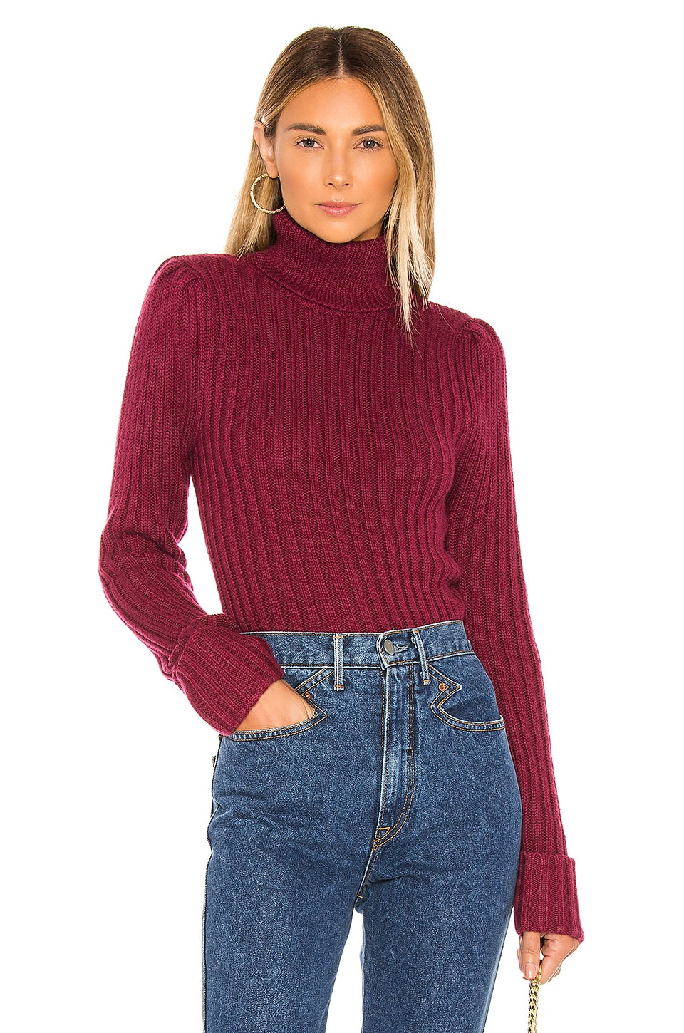 MAJORELLE Francis Turtleneck in Plum