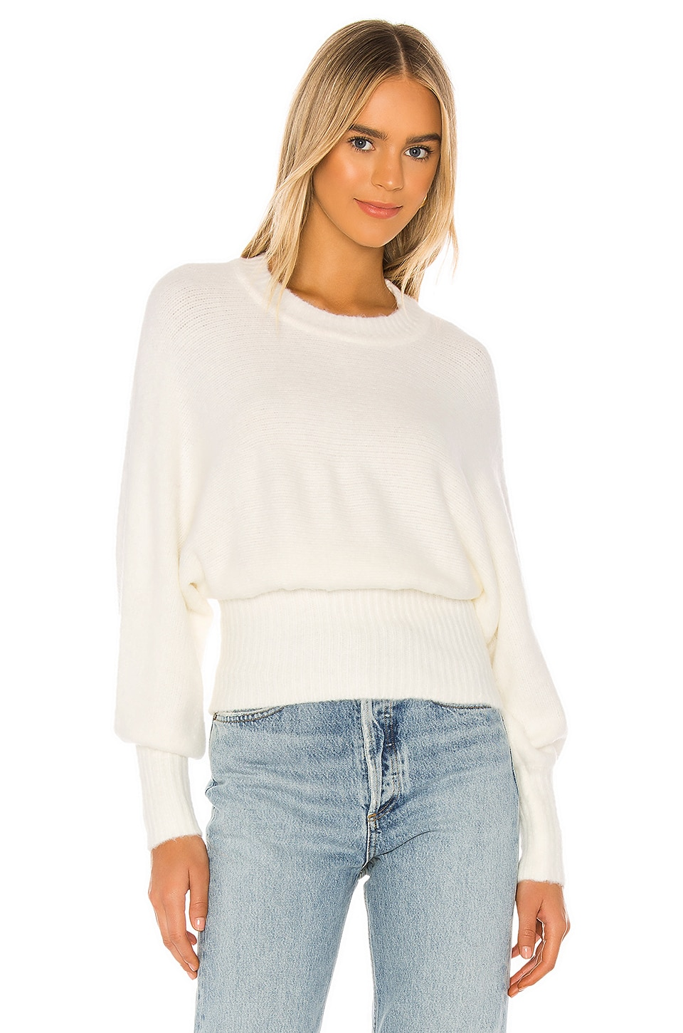 MAJORELLE Almond Sweater in Ivory