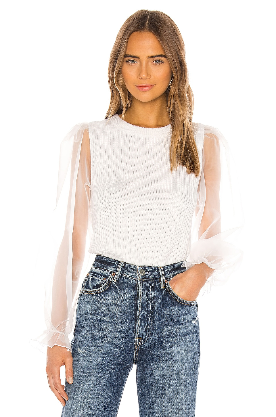 MAJORELLE Kinship Sweater in Ivory