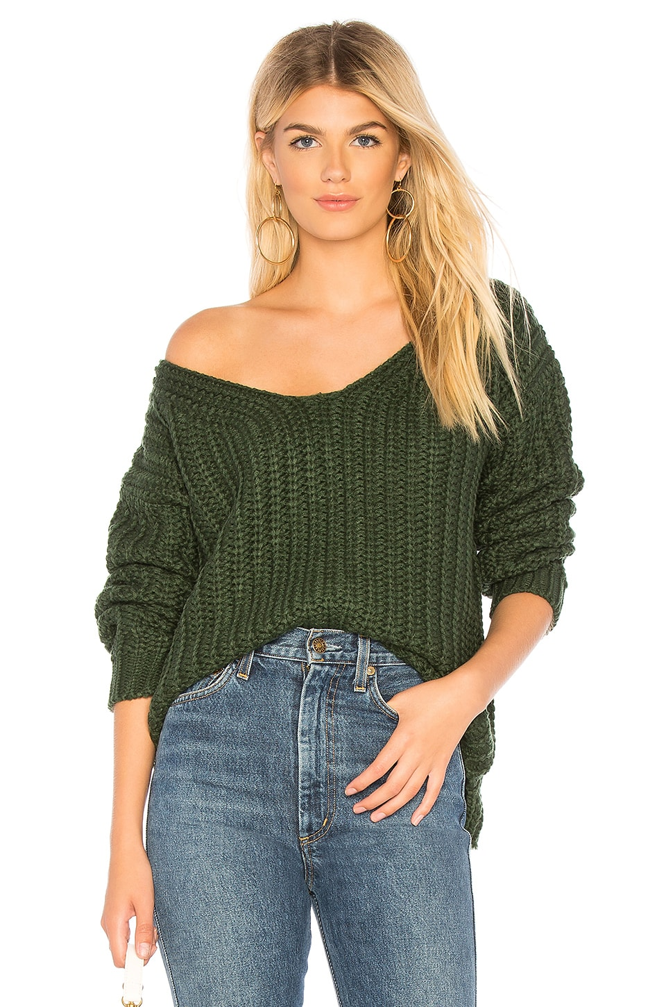 MAJORELLE Chunky Sweater in Green