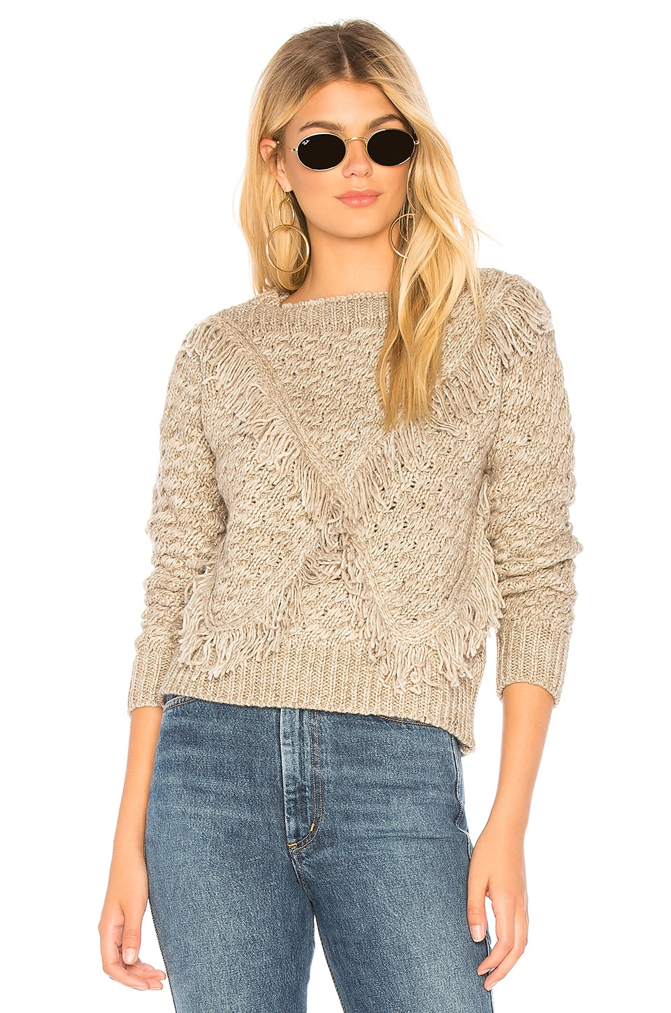 MAJORELLE Cable Knit Sweater in Grey