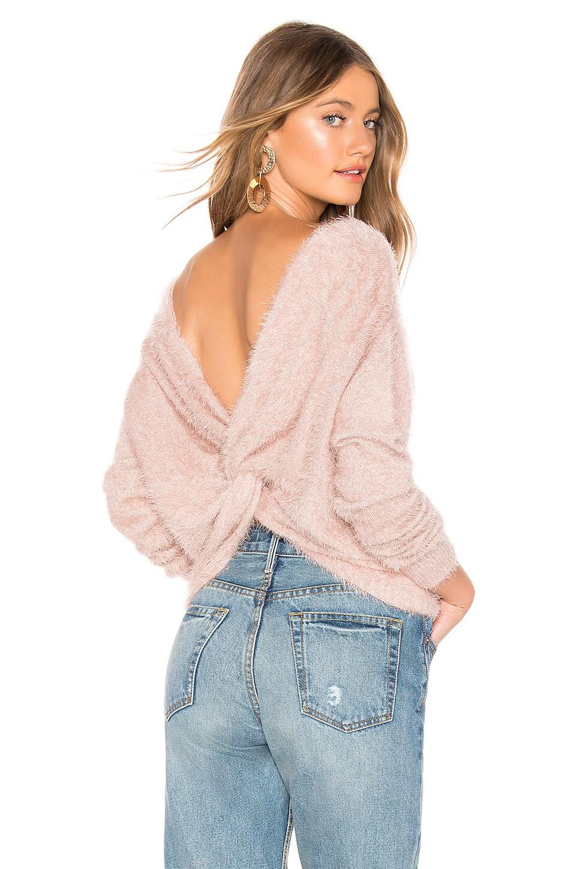 MAJORELLE Stardust Sweater in Tan & Silver