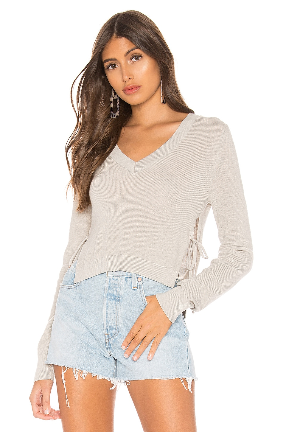 MAJORELLE Stay Together Sweater in Silver Grey