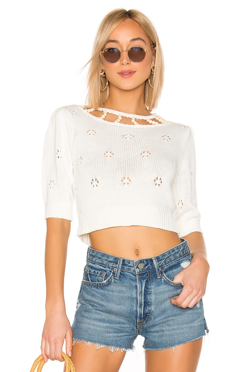 MAJORELLE Picnic Sweater in Ivory
