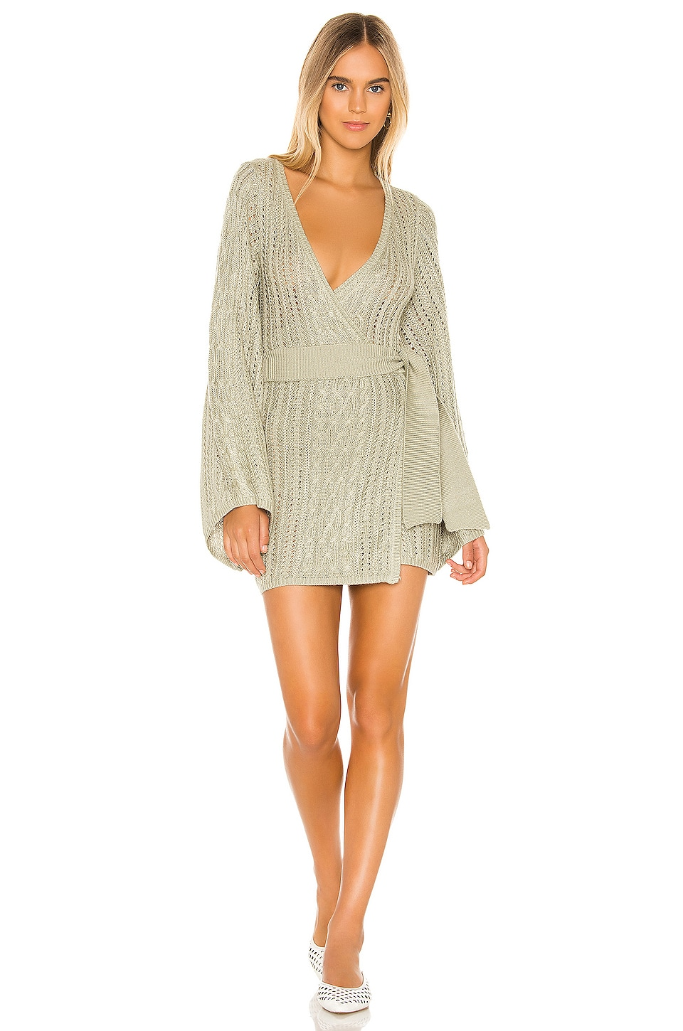 MAJORELLE Rowena Wrap in Pale Green
