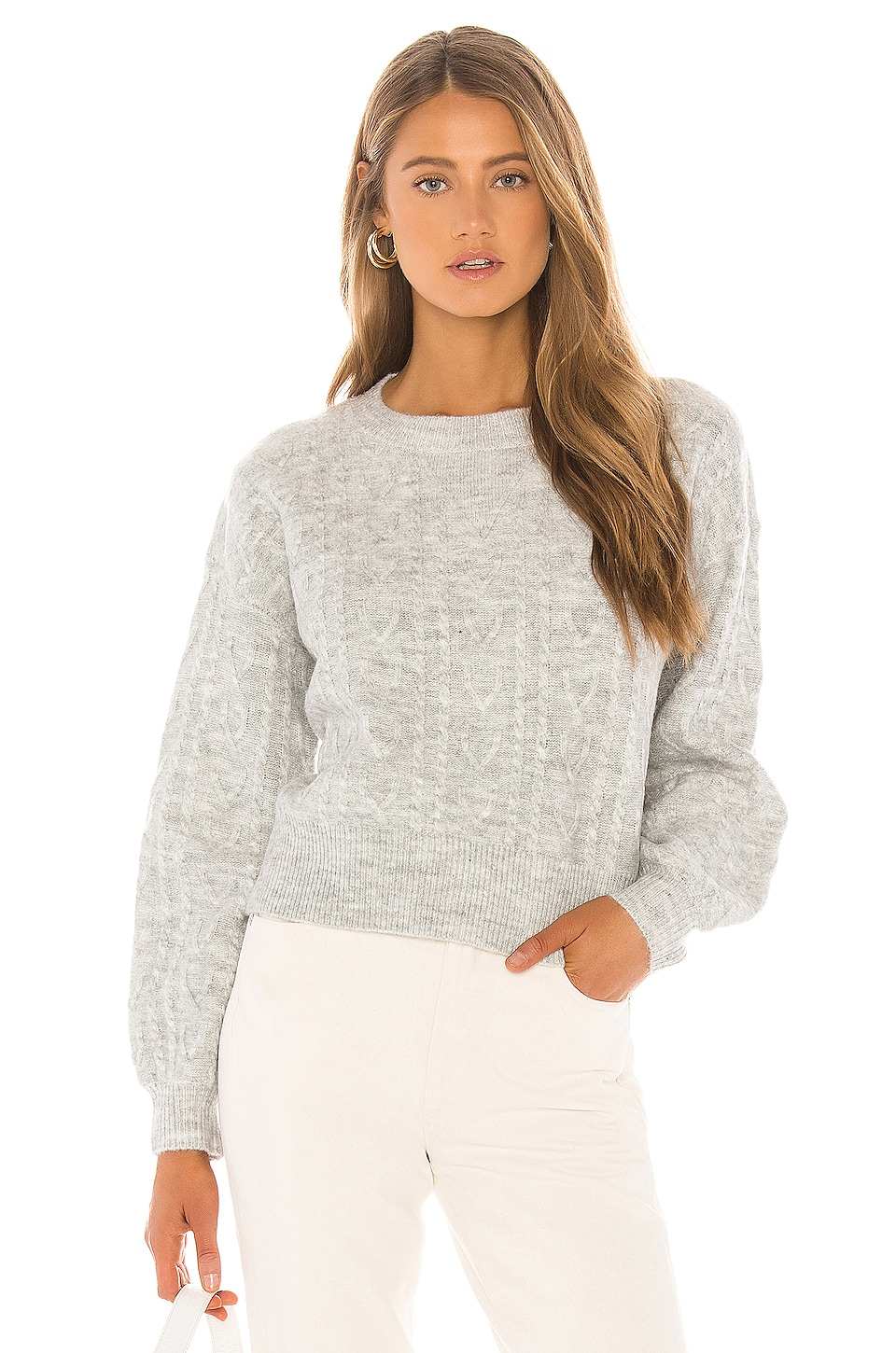 MAJORELLE Madeline Sweater in Greyed Lavender
