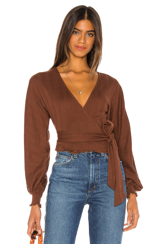 MAJORELLE Morea Sweater in Pecan Brown