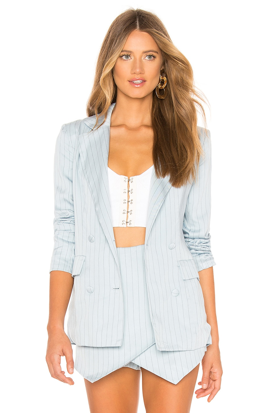 MAJORELLE Rhea Blazer in Powder Blue