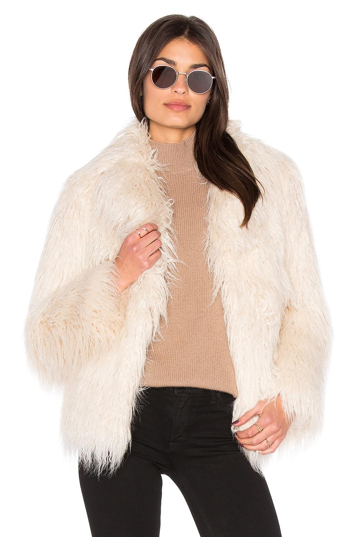 Molly Faux Fur Coat by MAJORELLE