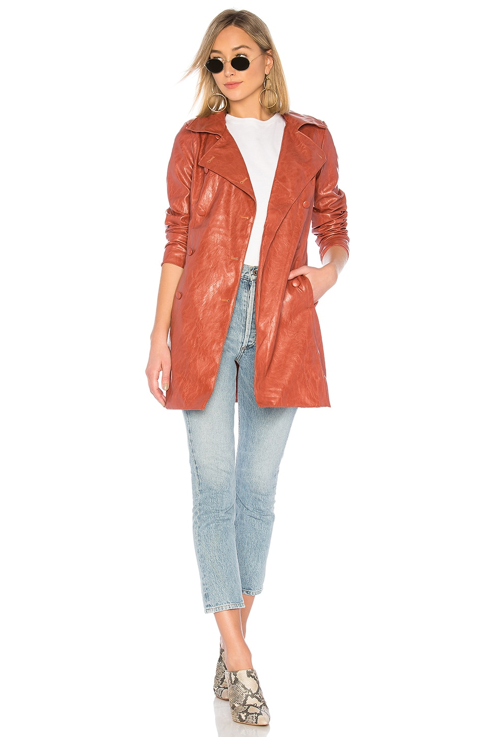 MAJORELLE Melinda Coat in Terracotta Brown