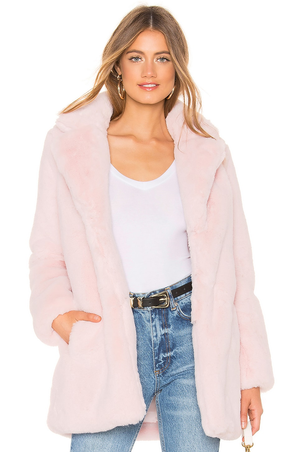 MAJORELLE Amora Coat in Blush Pink