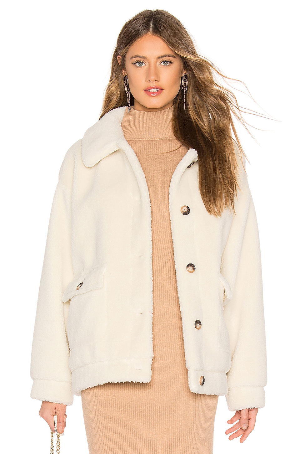 MAJORELLE Crawford Coat in Ivory