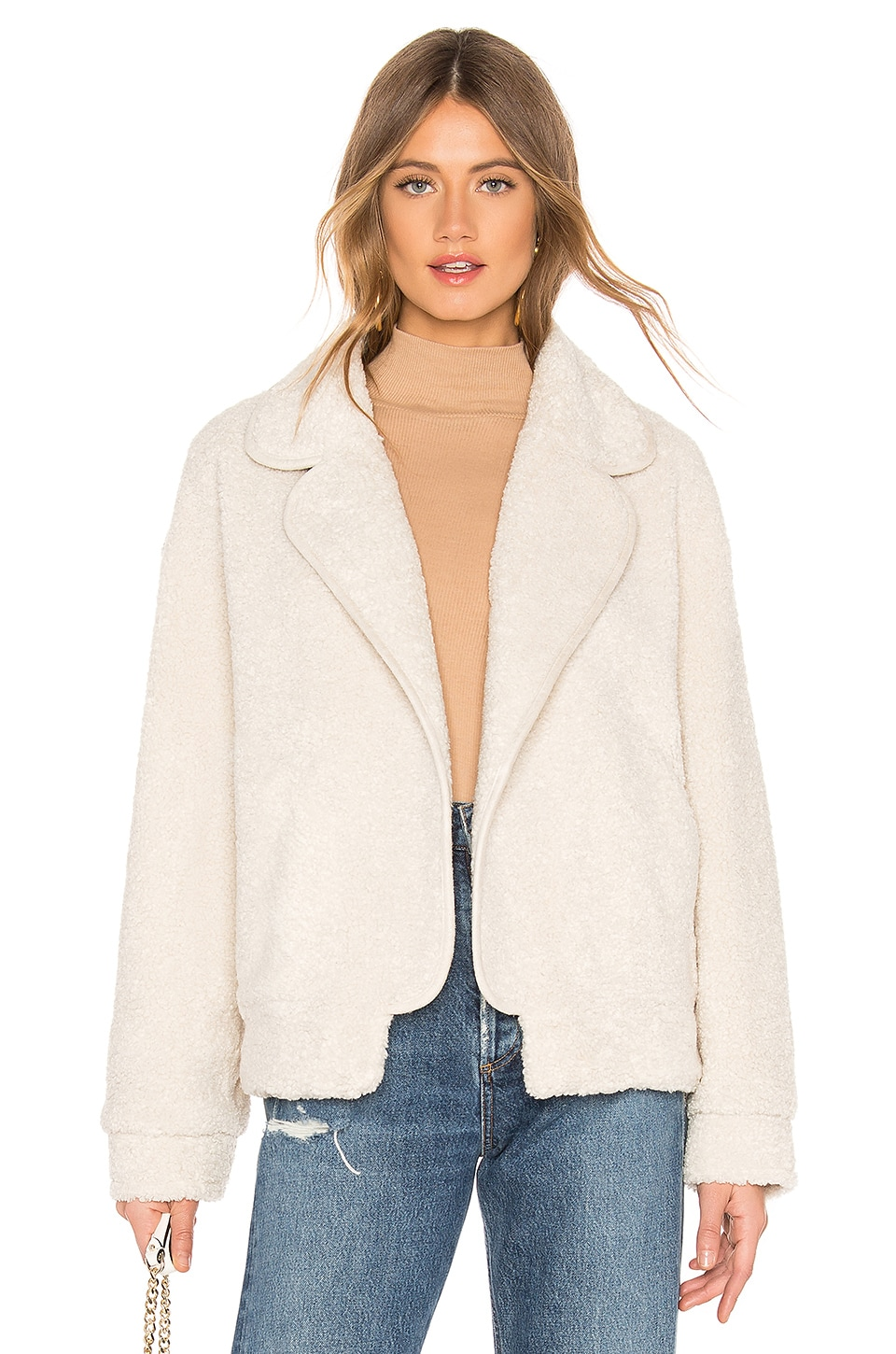 MAJORELLE Trayce Jacket in Cream