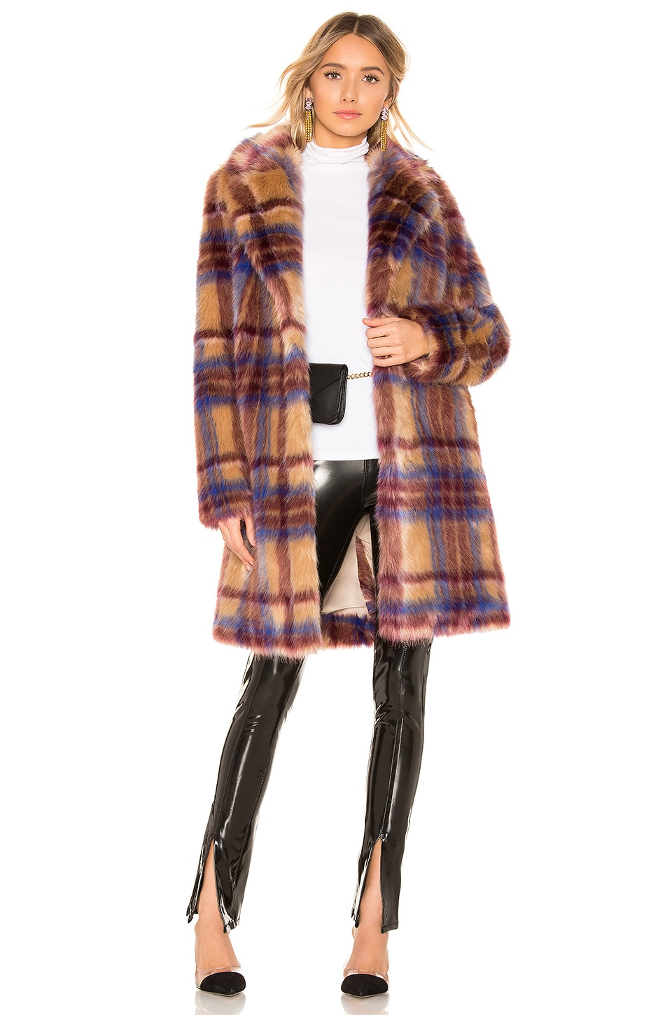 MAJORELLE Fifi Coat in Multi