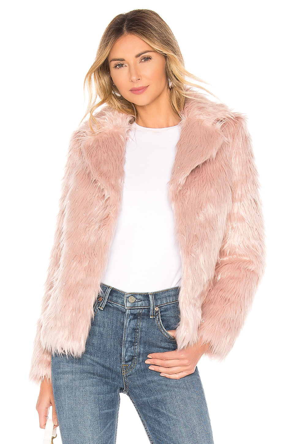 MAJORELLE Rosabelle Coat in Baby Pink