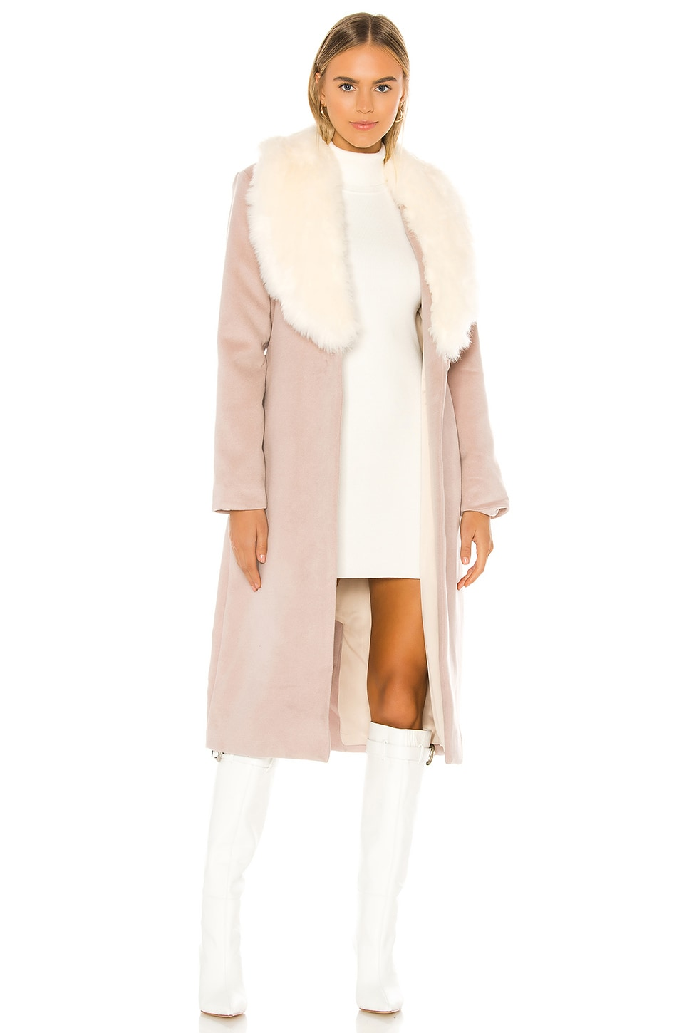 MAJORELLE Milford Coat in Tan Almond