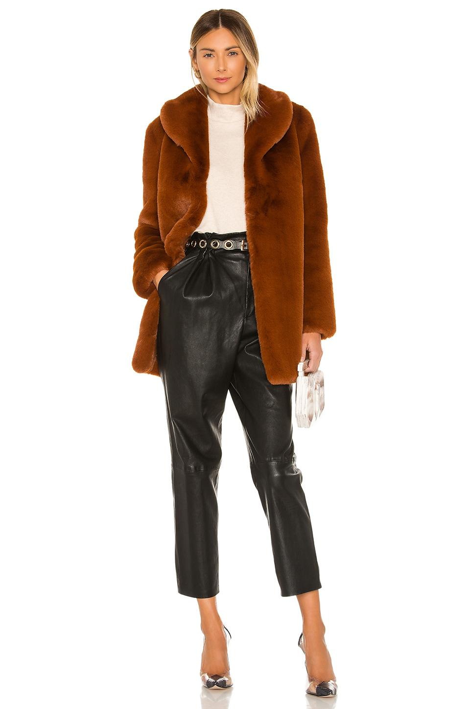 MAJORELLE Tatiana Coat in Chestnut Brown