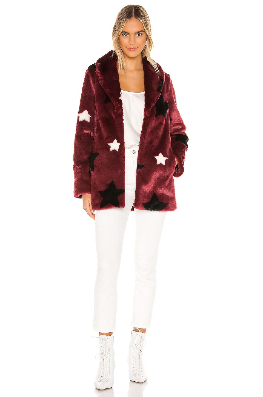 MAJORELLE Althea Coat in Burgundy Star