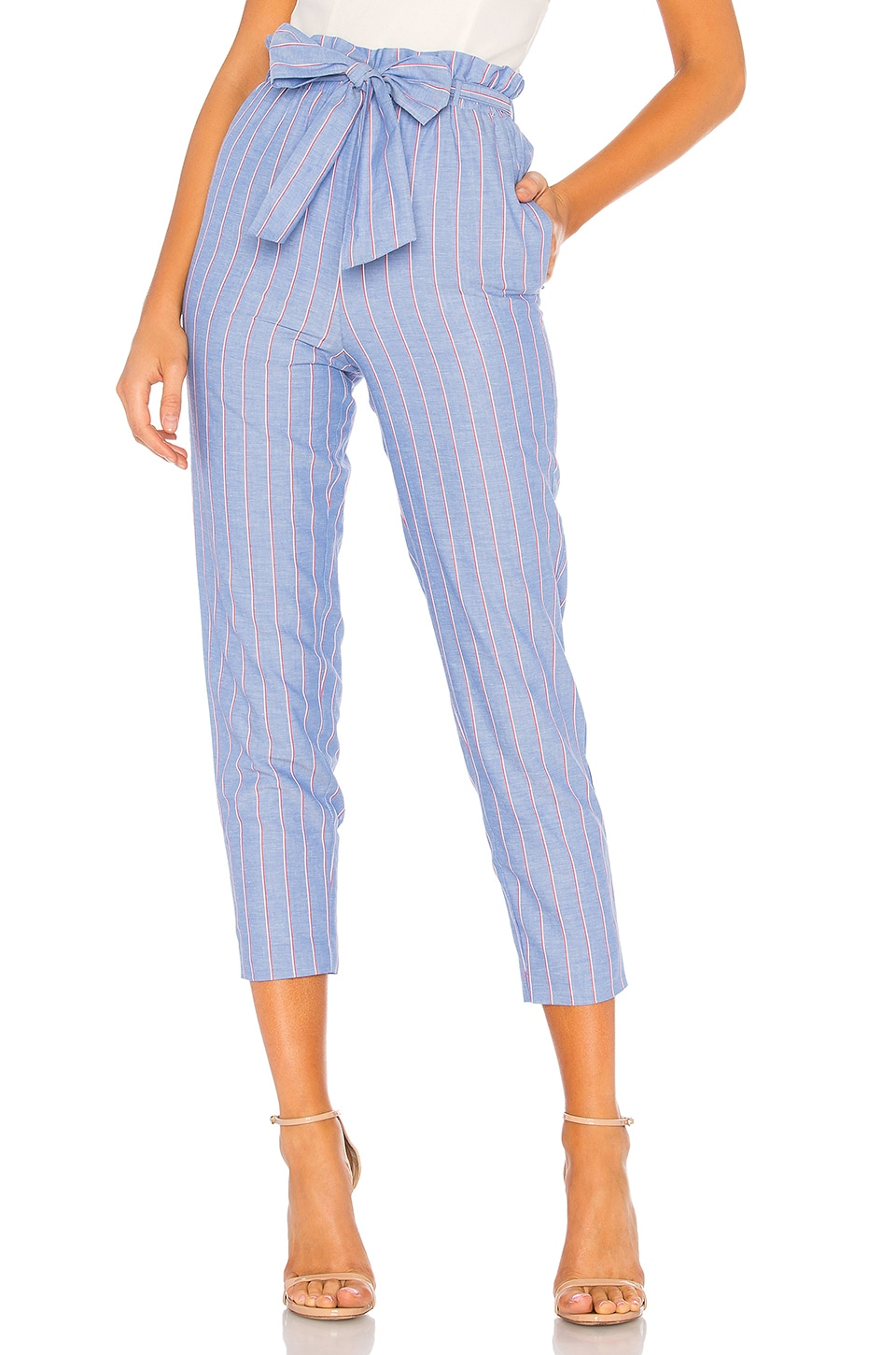 MAJORELLE Tristan Crop Pant in Blue Stripe