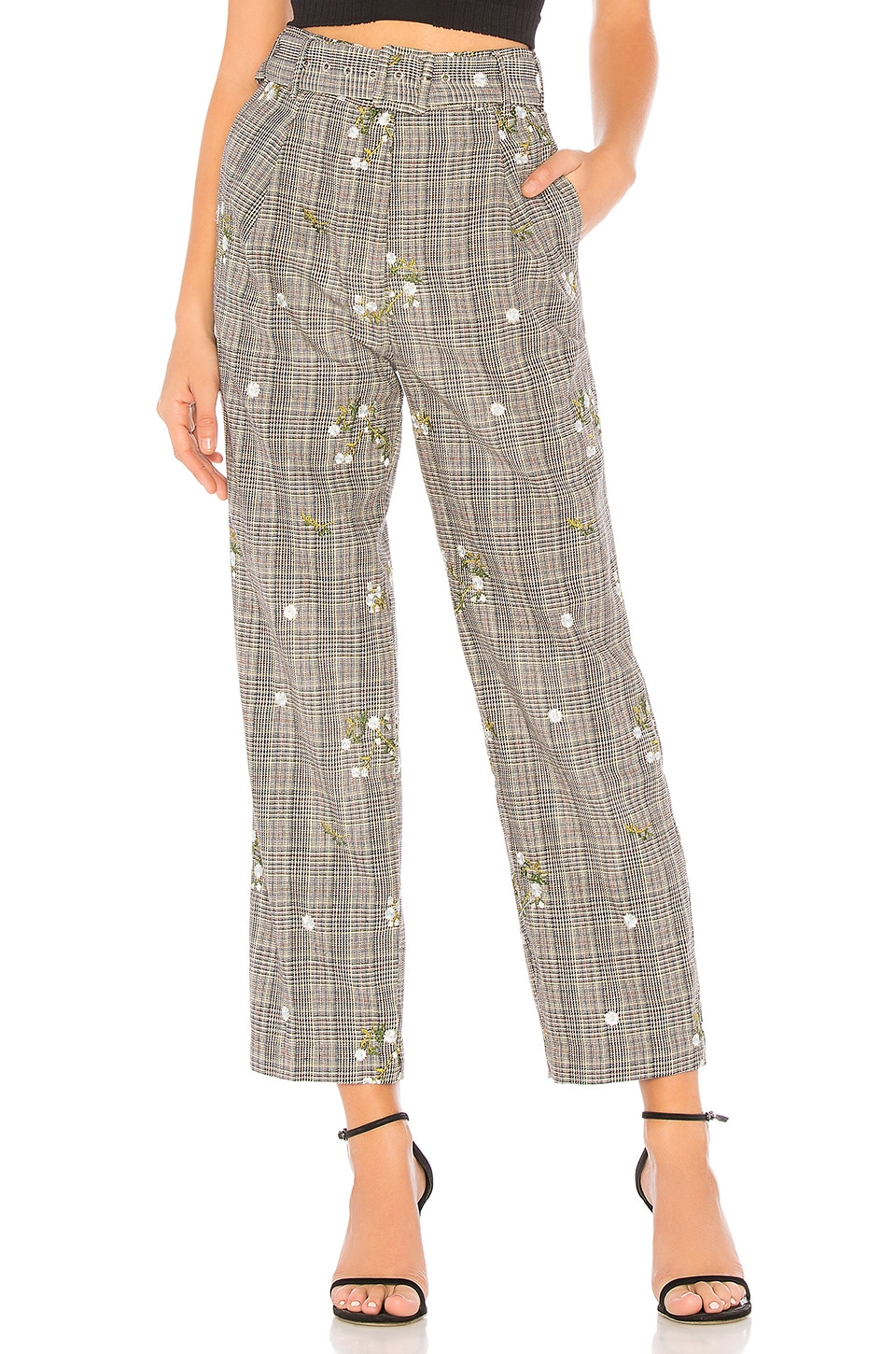 MAJORELLE Charles Pant in Grey Plaid