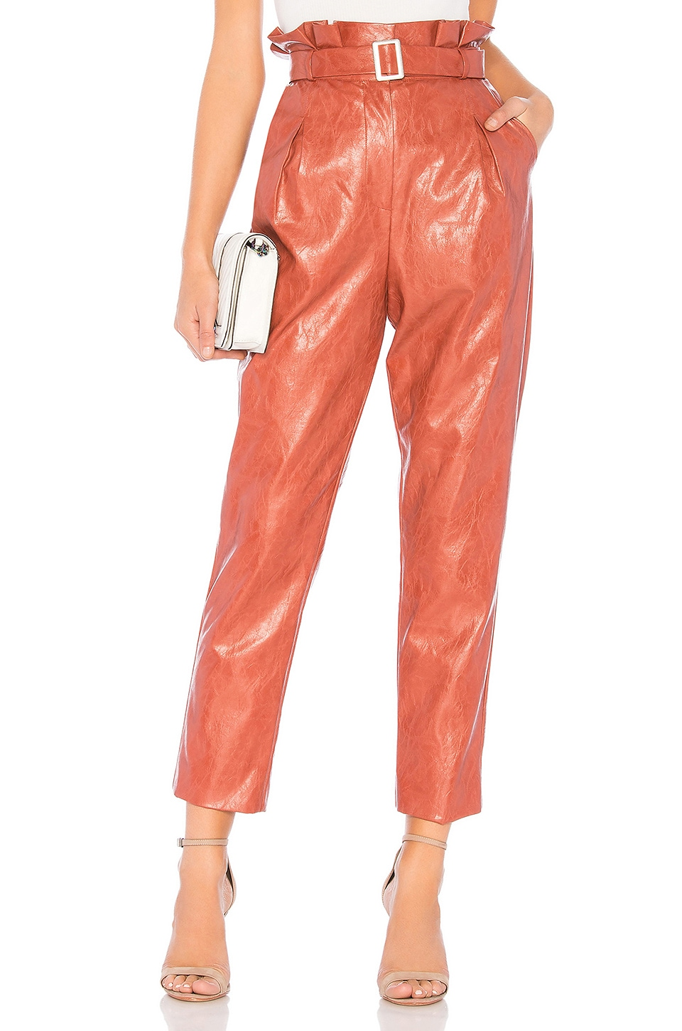 MAJORELLE Christopher Pant in Terracotta Brown