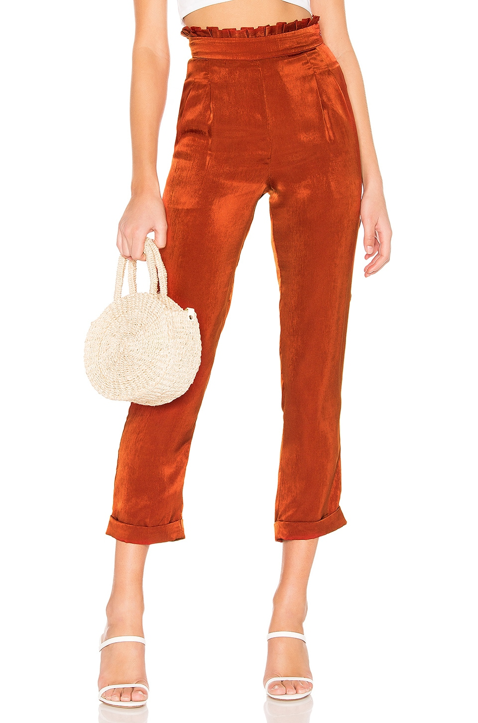 MAJORELLE Amali Pants in Brick