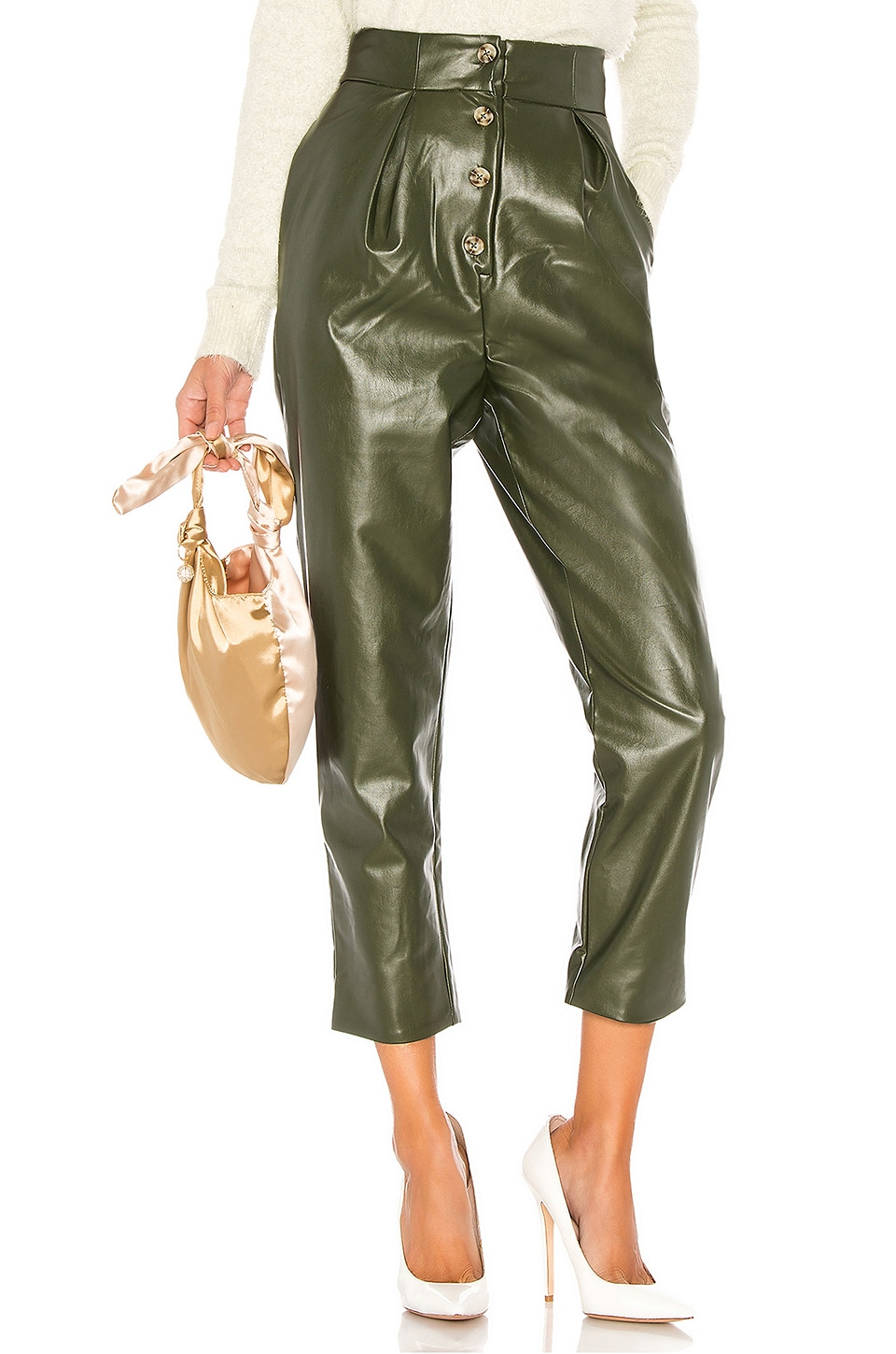MAJORELLE Clive Pant in Olive Green