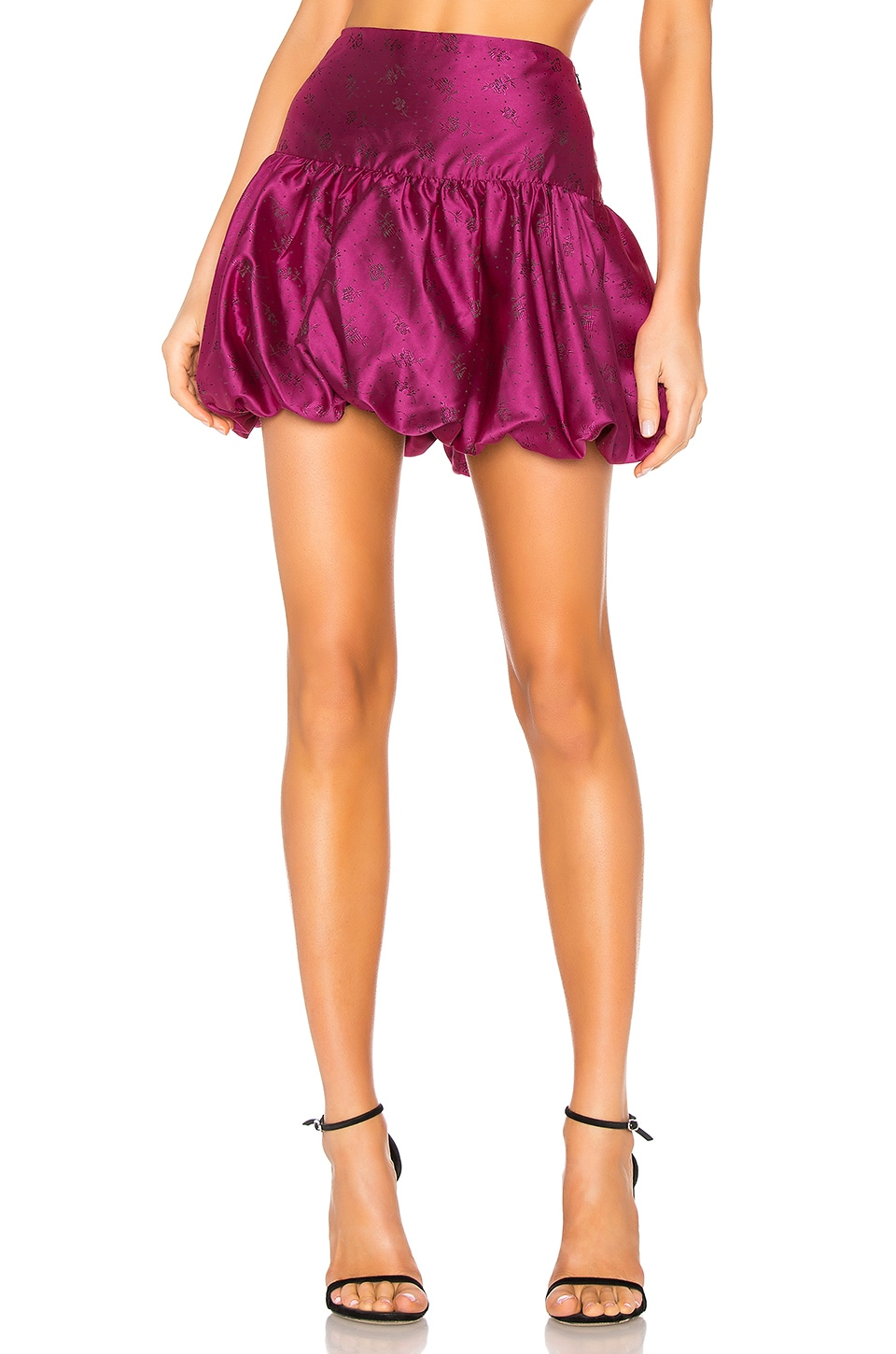 MAJORELLE Elena Mini Skirt in Fuchsia Pink