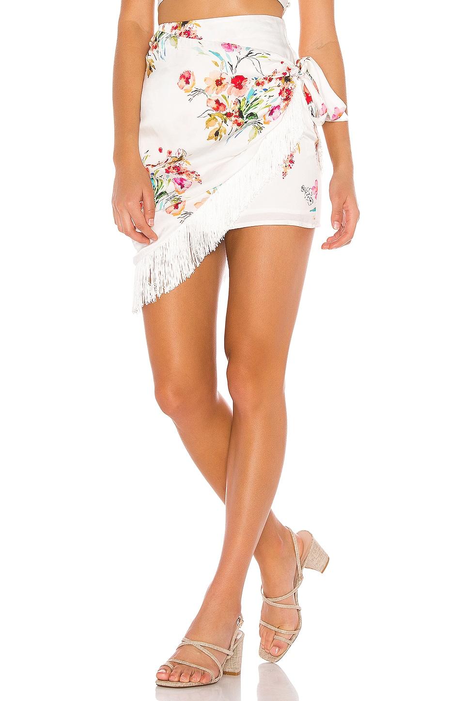 MAJORELLE Hallie Mini Skirt in Watercolor Multi