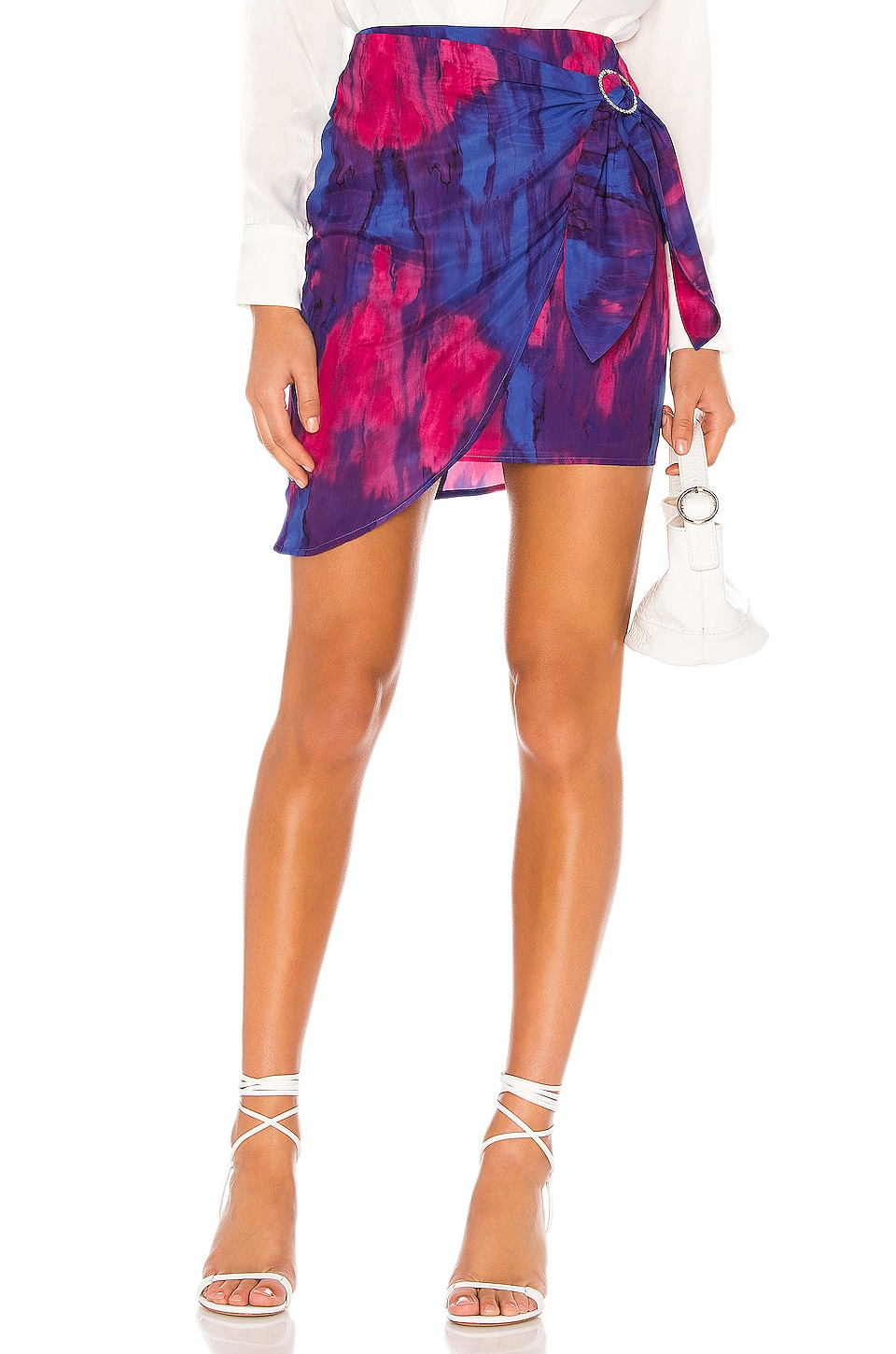 MAJORELLE Hoover Mini Skirt in Tie Dye Multi