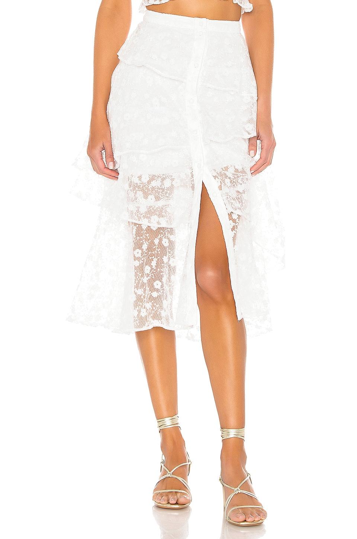 MAJORELLE Let Go Skirt in White