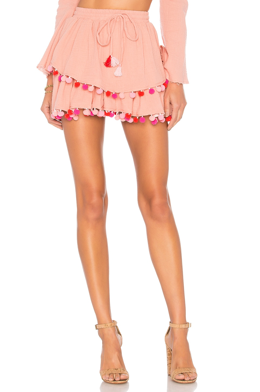MAJORELLE Calypso Skirt in Blush