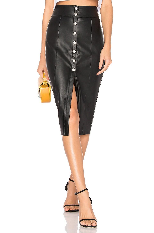 MAJORELLE Halsey Midi Skirt in Black