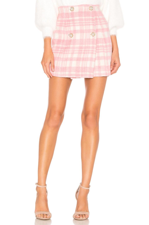 MAJORELLE Sabrina Mini Skirt in Pink Cloud