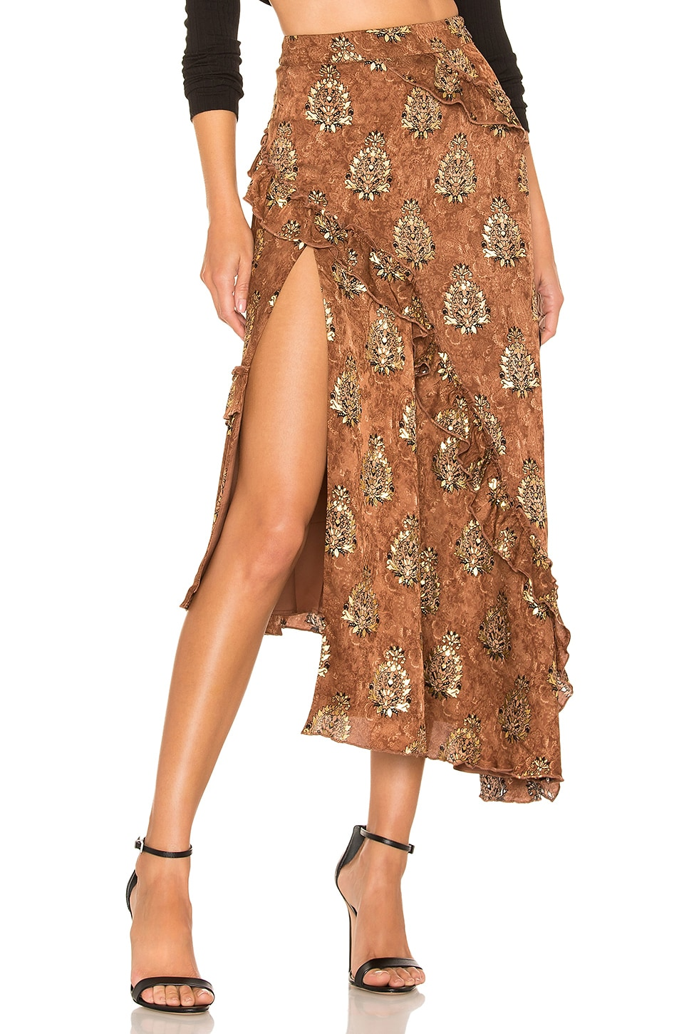MAJORELLE Tallulah Skirt in Arabian Copper