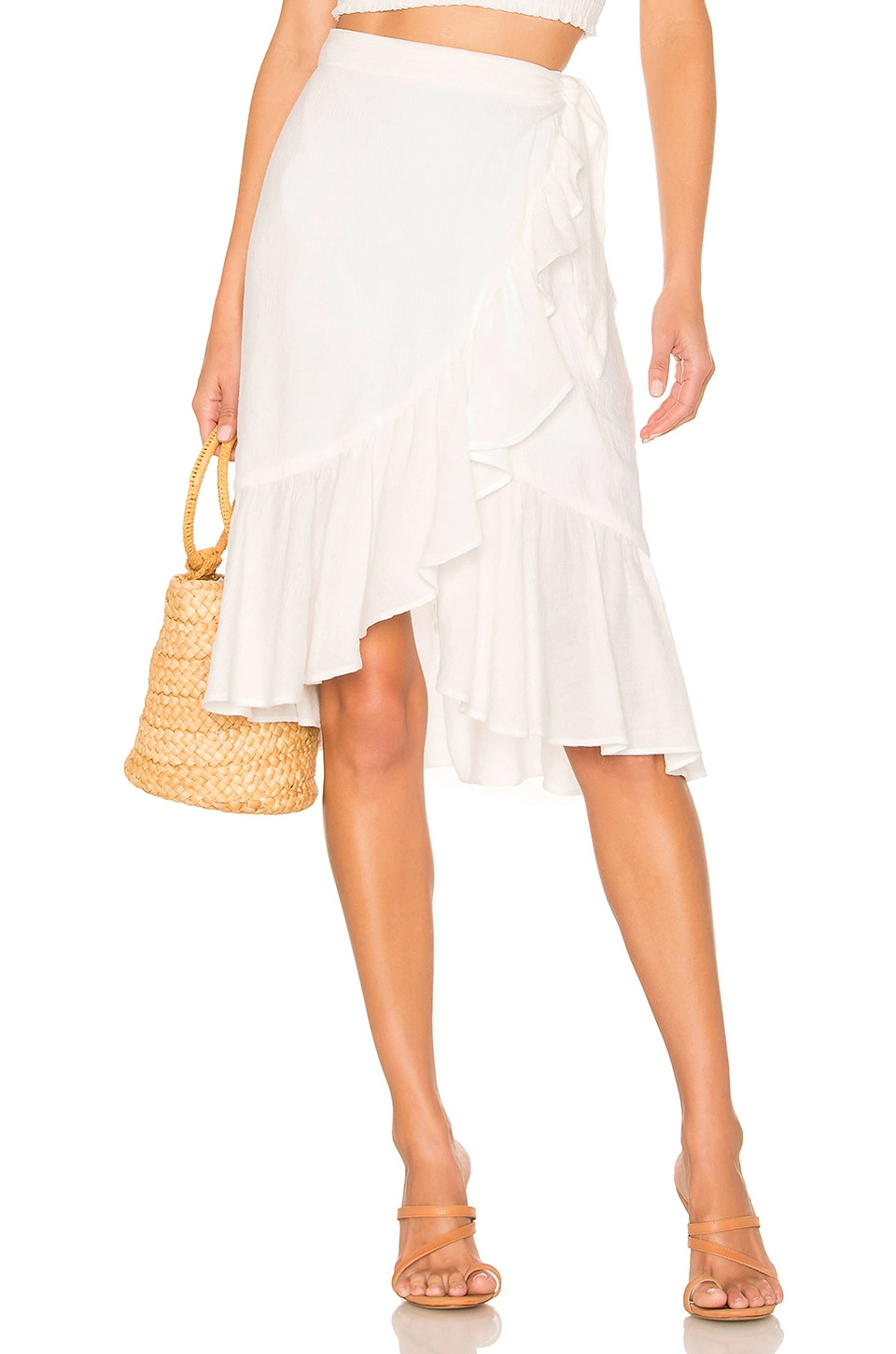 MAJORELLE Darcy Skirt in White