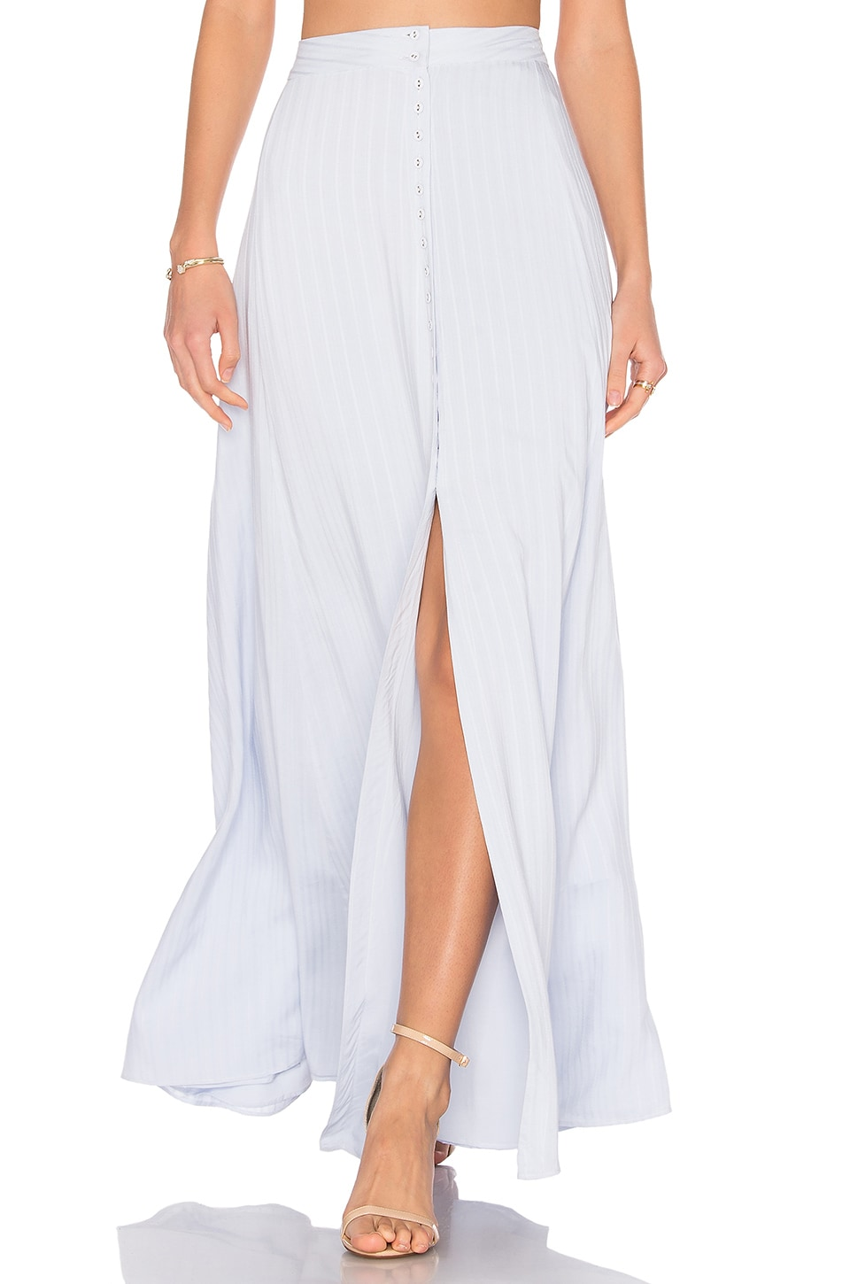 MAJORELLE Sangria Maxi Skirt in Dusty Blue