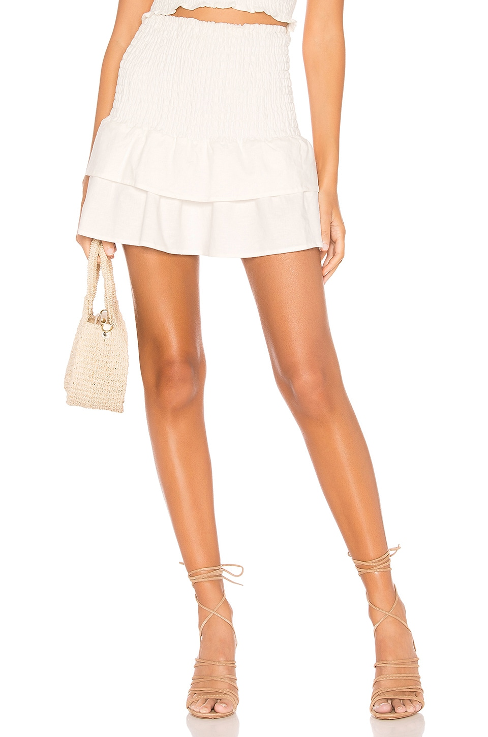 MAJORELLE Peaches Skirt in White