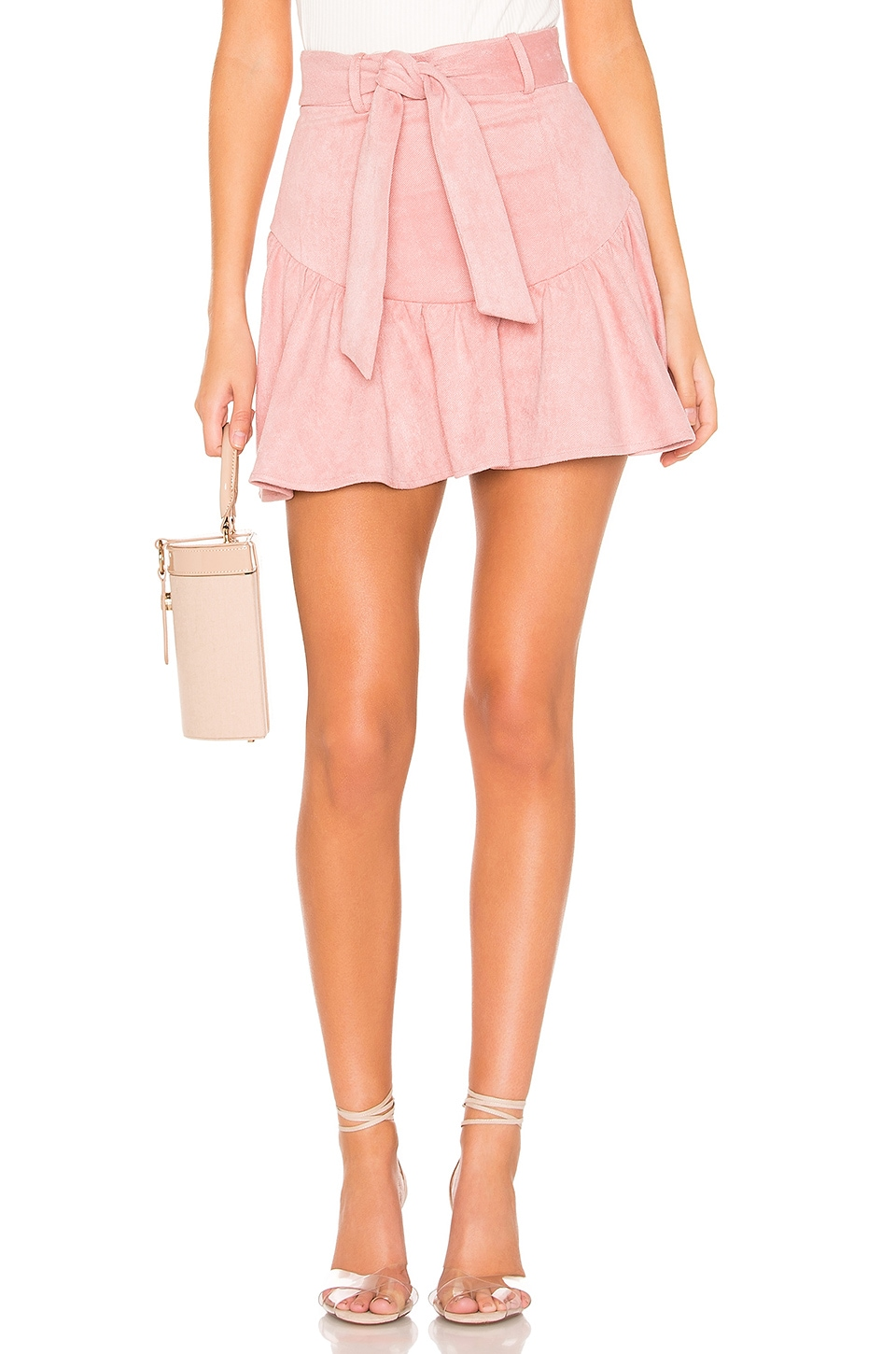 MAJORELLE Sami Mini Skirt in Pink Mauve