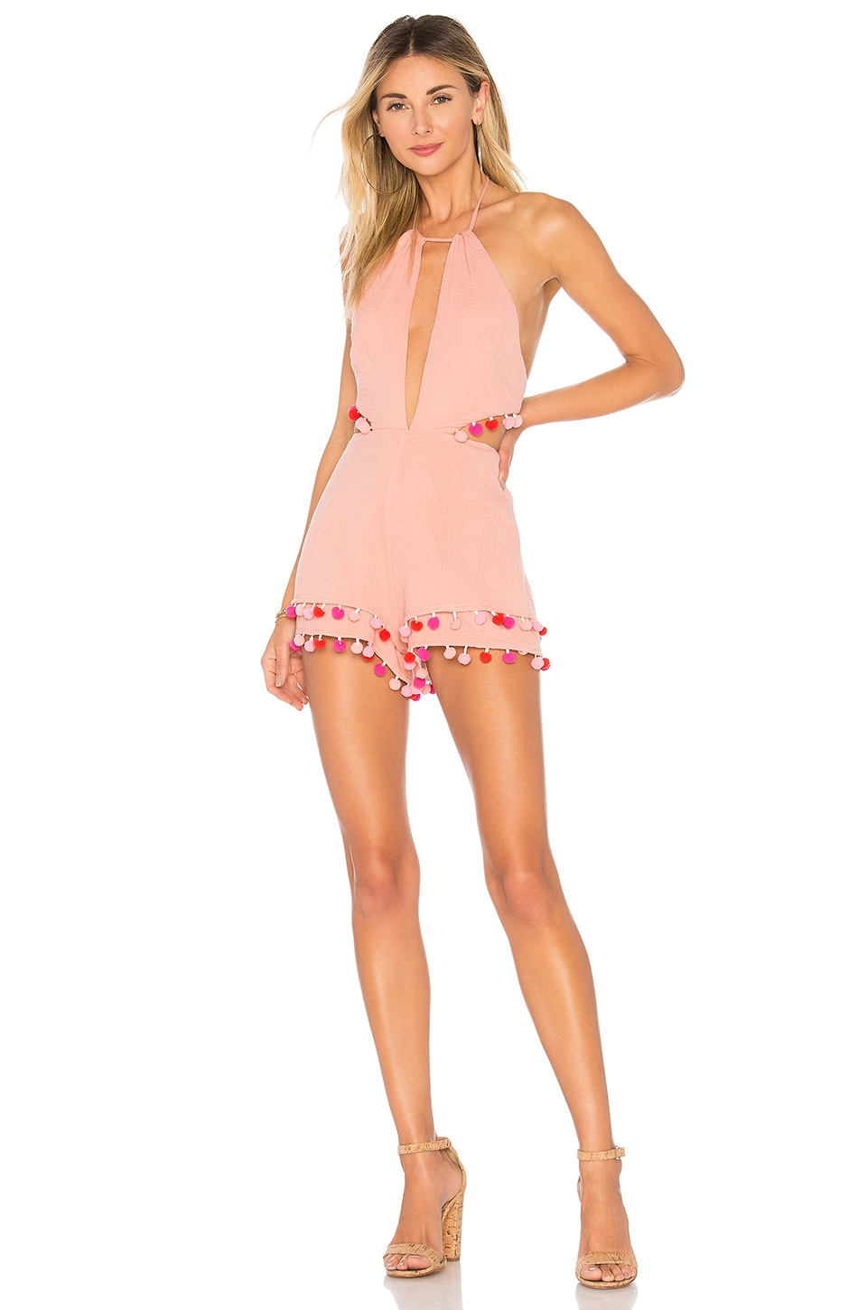 MAJORELLE Fiji Romper in Blush